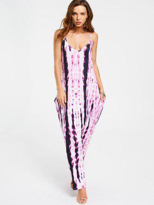 Vestido Largo Teñido Lazo De Maxi - Púrpura Xl