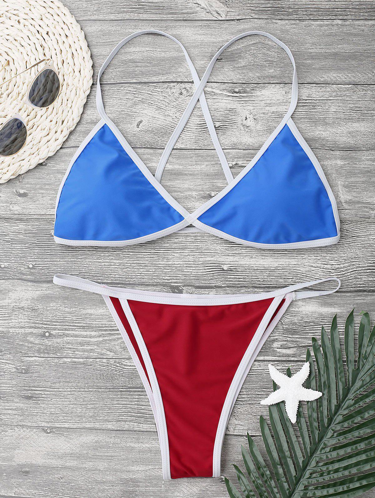 Ensemble de bikini à cordes croisées