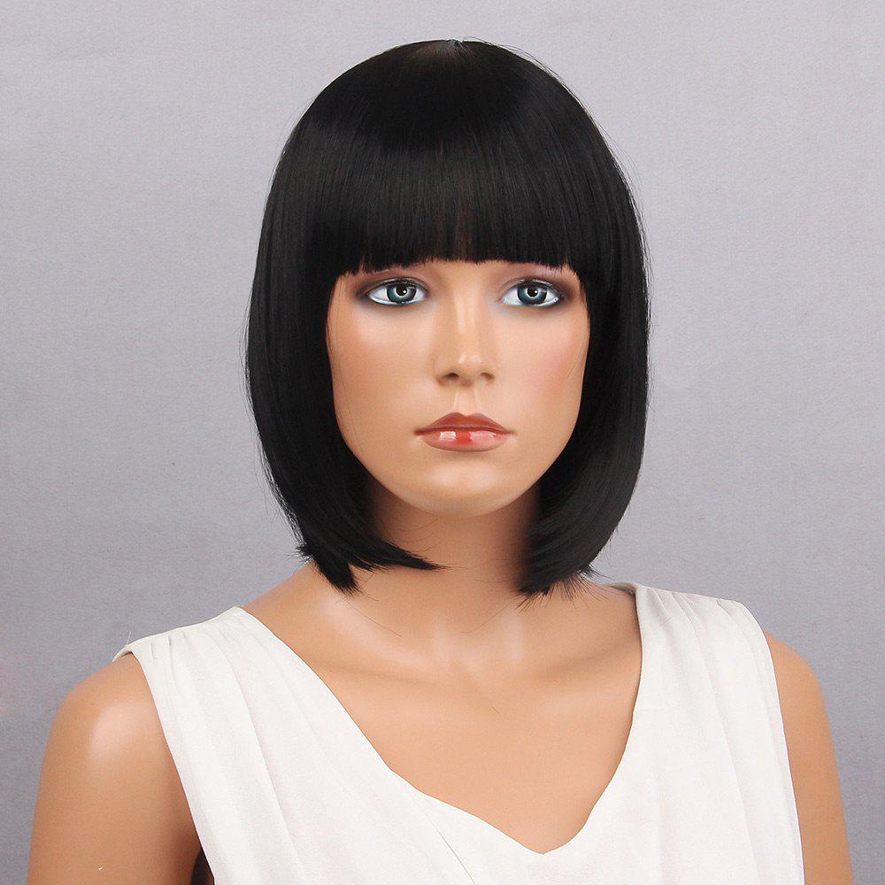Short Full Bang Bobbed Straight Synthetic Wig 222198901
