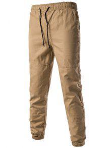 الرباط شعاع قدم الظهر جيوب عداء ببطء السراويل - كاكي 3xl