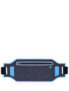 خفيفة الوزن كتلة اللون تنفس الخصر حقيبة - أزرق