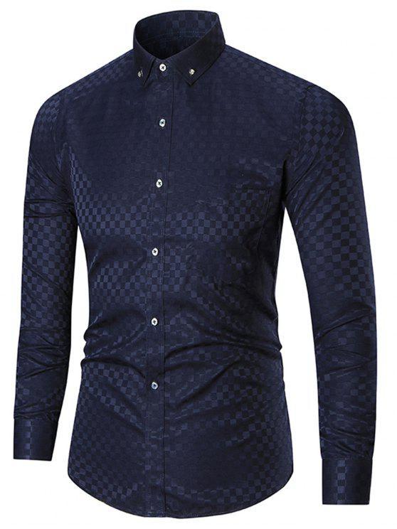 ضئيلة تناسب جيب زر أسفل قميص - كاديتبلو 4XL
