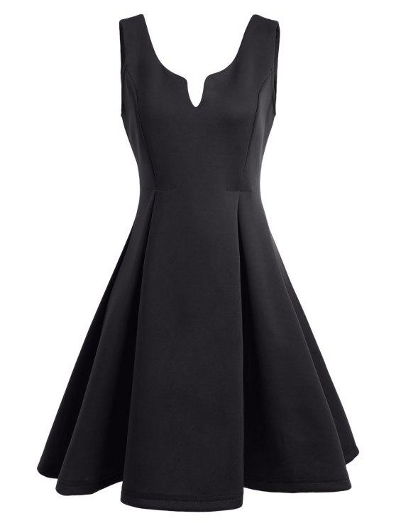 A فستان نادي بلا أكمام مفتوحة الظهر بخط - أسود M