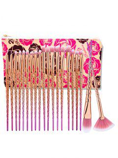 Unicorn Ombre Eye Makeup Brushes Set With Rose Bag - Rose Gold