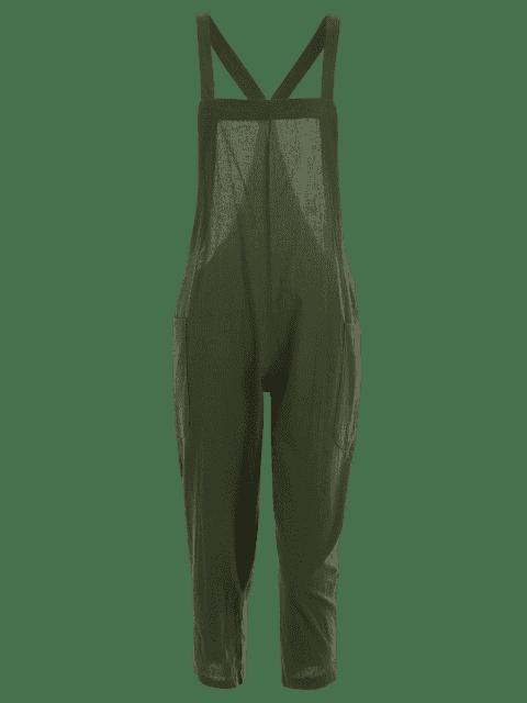 Combinaison Carré Collant Capri avec poches - Vert Armée L Mobile