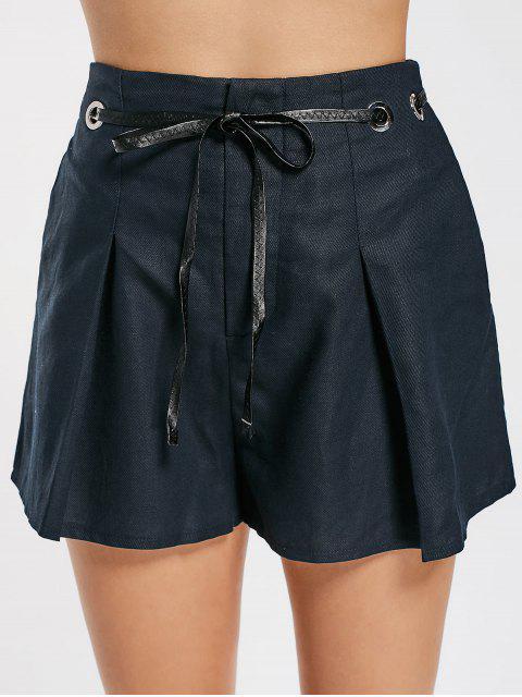 Short à rayures hautes - Bleu Violet M Mobile