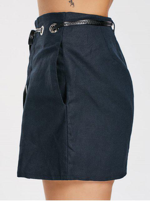 Short à rayures hautes - Bleu Violet L Mobile