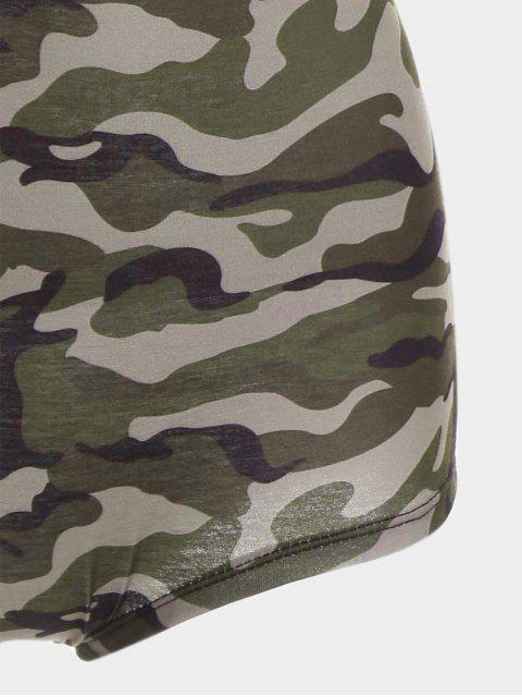 Combinaison de camouflage sans manches à col plongeant - Camouflage M Mobile