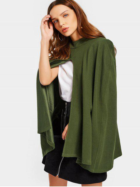 women Plain Hooded Cape Coat - ARMY GREEN 2XL Mobile