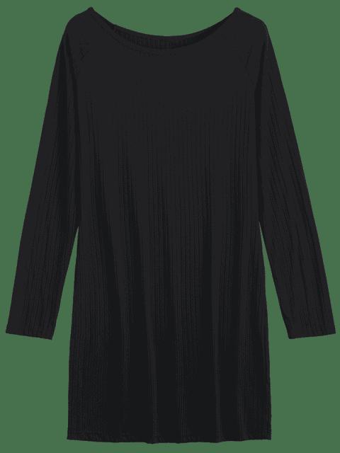Robe miniature à manches longues Bodycon - Noir M Mobile