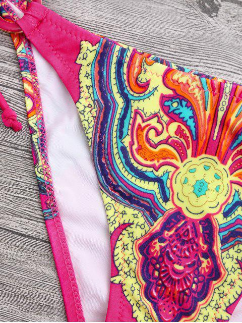 outfit Halter Retro Paisley Print String Bikini - COLORMIX S Mobile