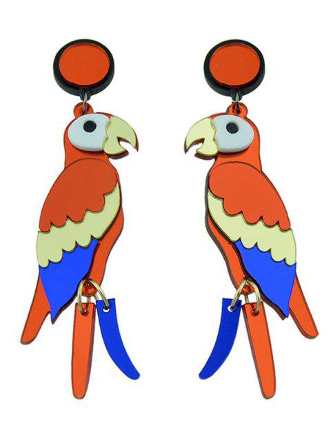 lady Parrot Bird Earrings - COLORMIX  Mobile
