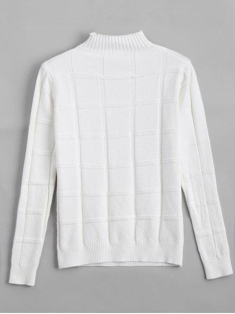 women's Square Mock Neck Sweater - WHITE ONE SIZE Mobile