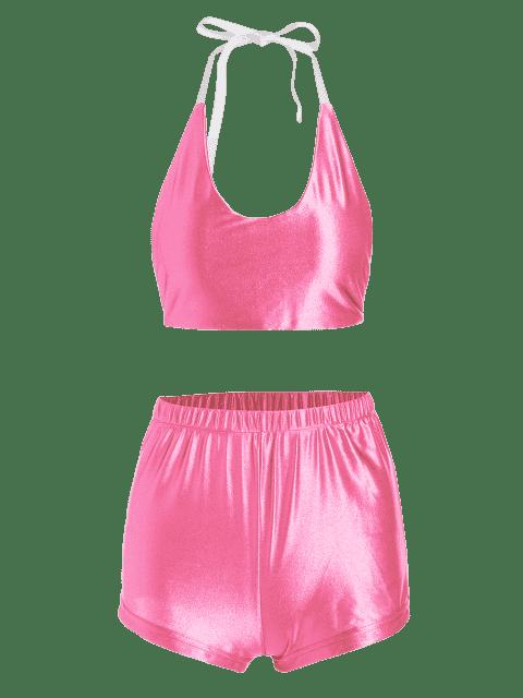 Hauteur et pantalons courts sans cale Halter - ROSE PÂLE S Mobile