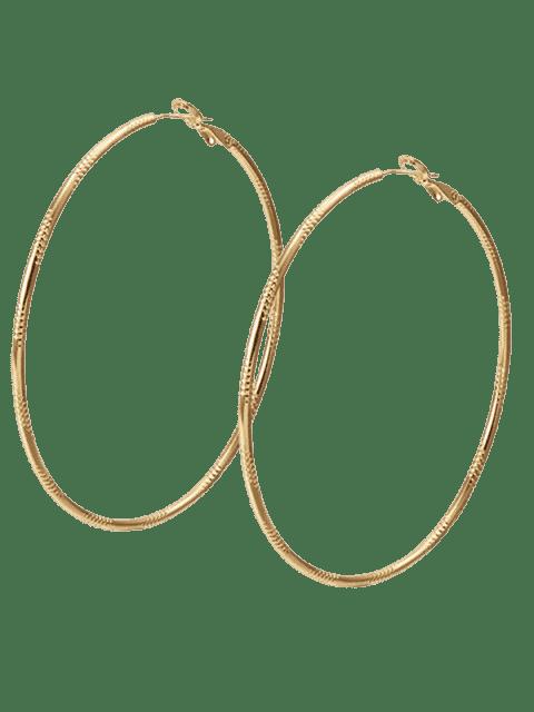 Boucles d'oreilles Cercle en alliage Gravé - Champagne  Mobile