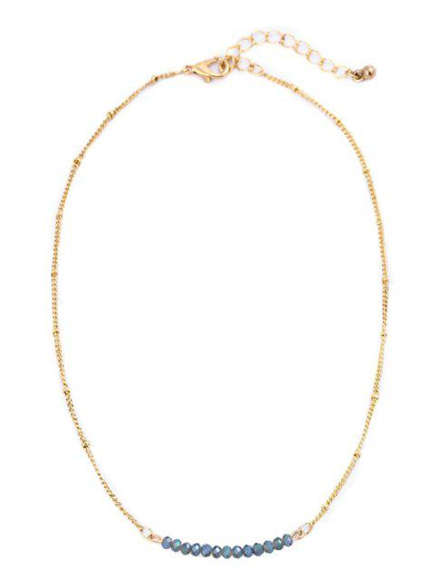unique Beaded Chain Collarbone Necklace - COLORMIX  Mobile