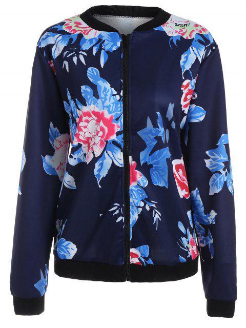 Veste à manches longues florale - Bleu Violet 2XL Mobile