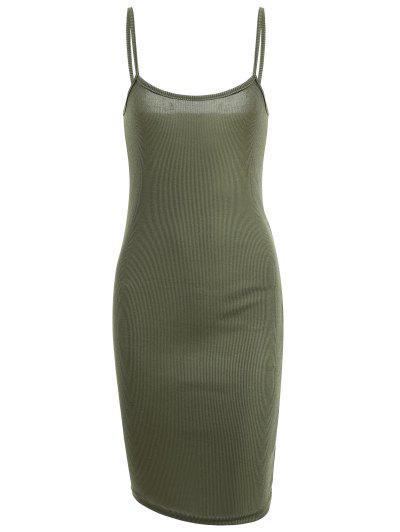 Ribbed Slit Bodycon Dress