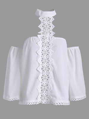 Blusa De Chassi De Painel De Renda Solta - Branco Xl