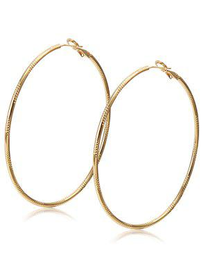 Alloy Engraved Hoop Earrings - Champagne