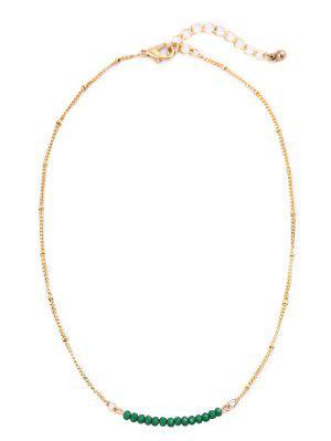 Schlüsselbein Halskette mit Perlen und Kette