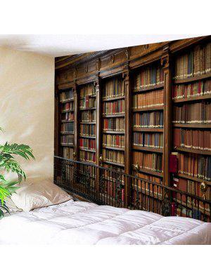 Retro Bookrack Print Decorative Wall Tapestry