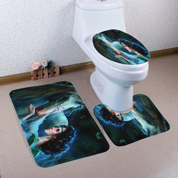3PCS Unicorn Fairy Housse de toilette et housse de matelas