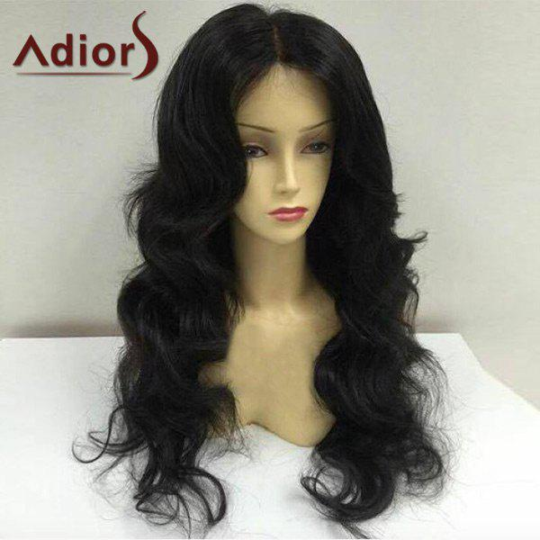 Adiors Long Center Parting Shaggy Body Wave Synthetic Wig 222315601