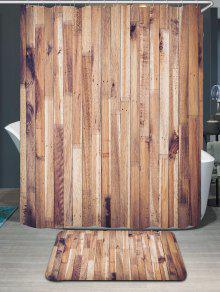الخشب الحبوب ماء دش الستار وبساط - خشب W71 بوصة * L71 بوصة