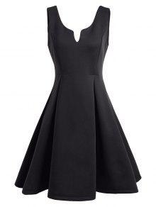 A فستان نادي بلا أكمام مفتوحة الظهر بخط - أسود S