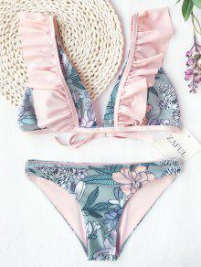 Volantes Plunging Cuello Bikini Flor - Floral M