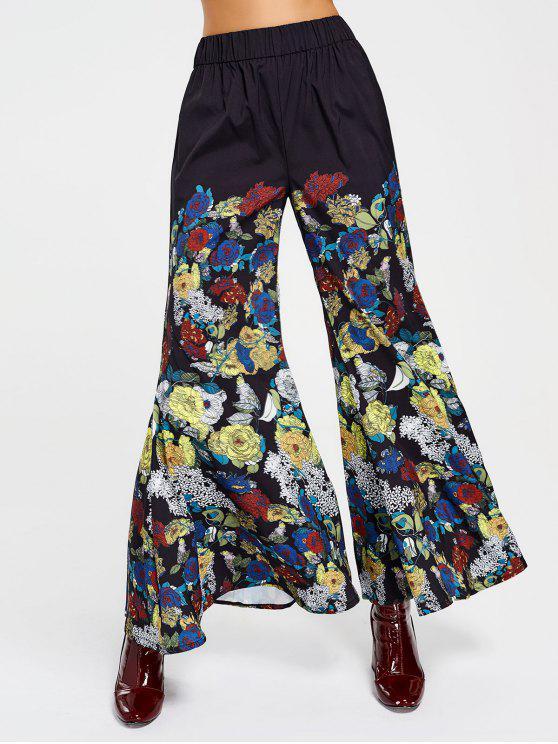 Pantalones de cintura alta floral de Bell Bottom - Floral S