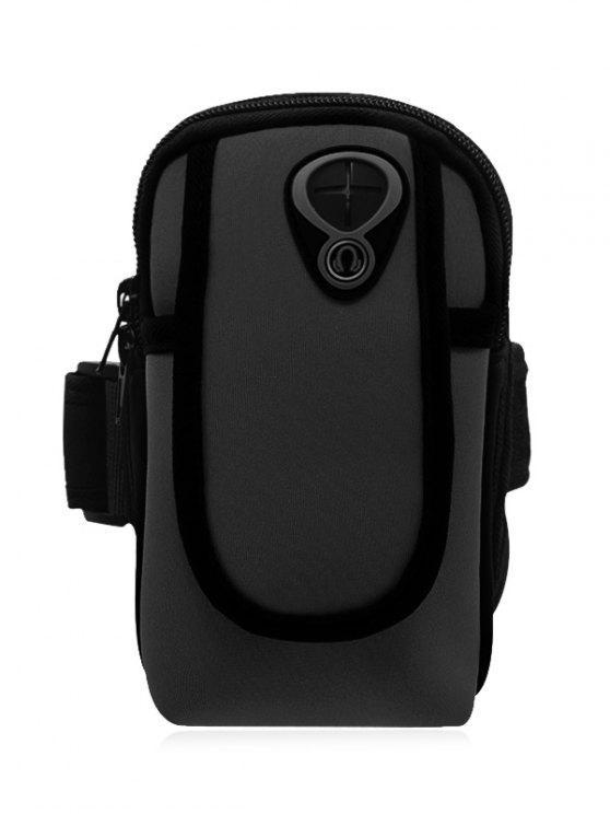unique Polyester Colour Block Running Arm Bag - BLACK