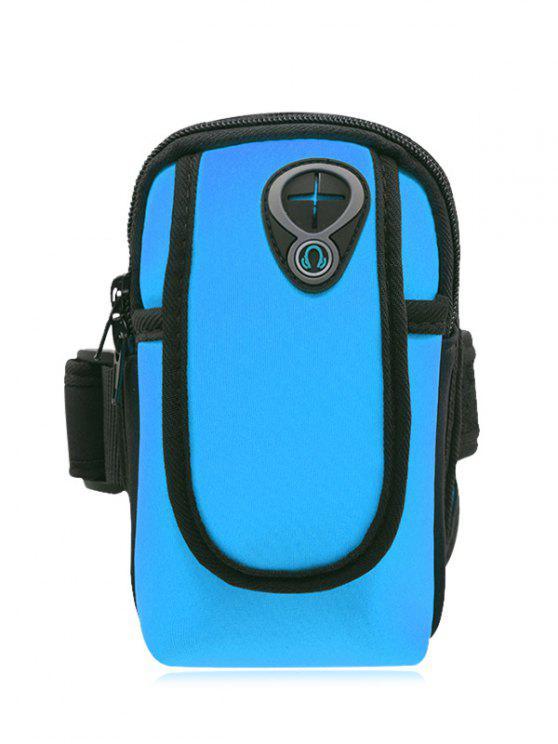 buy Polyester Colour Block Running Arm Bag - BLUE