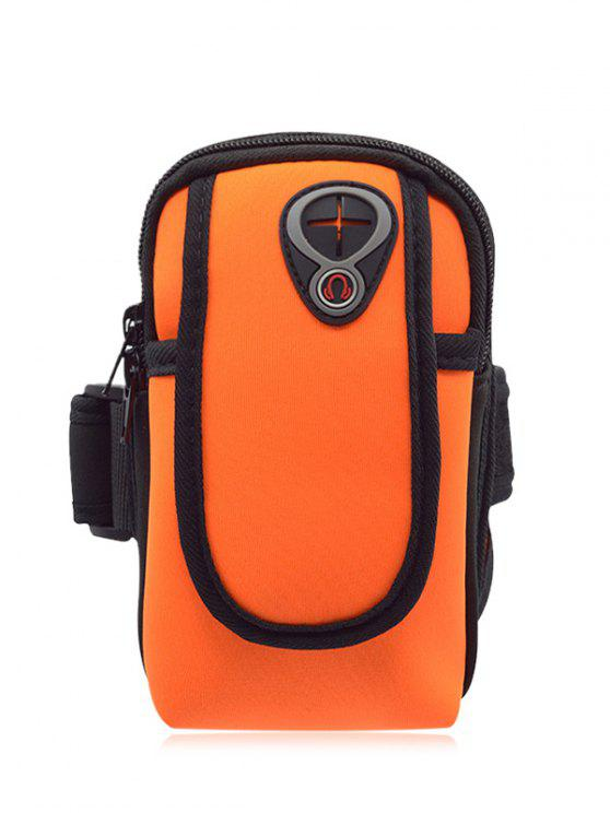 Sac en polyester de bloc de couleurs - Orange Clair
