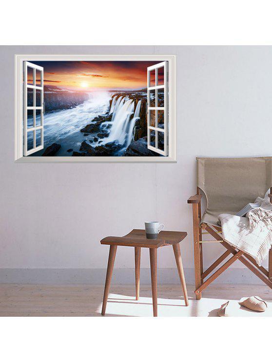 3d، صمام، الغروب، شل، للإزالة، جدار الفن، الملصق - Colormix 48.5*72CM