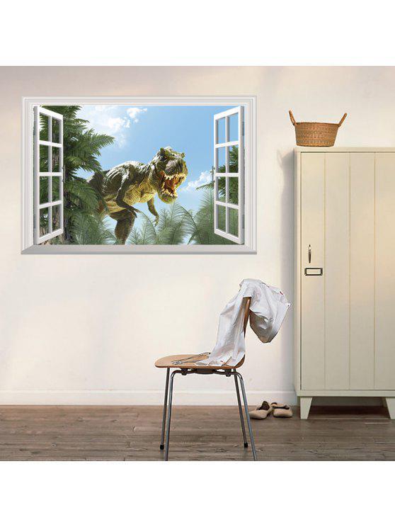 3d نافذة الديناصور جدار الفن ملصق ل غرف النوم - مزيج ملون 48.5 * 72CM