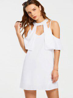 Overlay Cut Out Mini Dress - White M