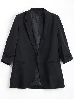 Invisible Pockets Lapel Blazer - Black L