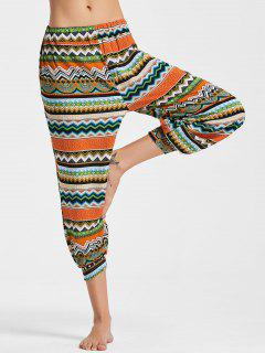 Geometric Printed Capri Jogger Pants - 2xl