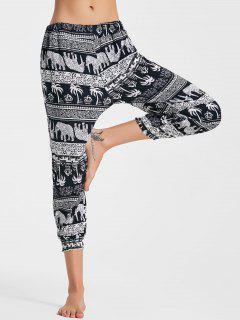 Tribal Pantalones Impresos Capri Jogger - Xl