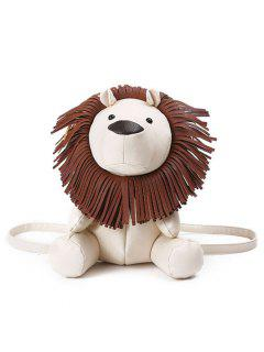 Novelty Lion Shaped Backpack - Off-white