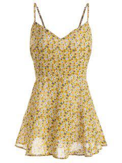Talla De Impresión Floral Con Estampado De Flores - Amarillo 3xl
