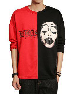 Color Block Panel Grimace Graphic Print T-shirt - M