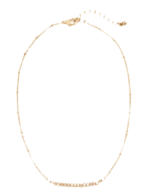 sale Beaded Chain Collarbone Necklace - CHAMPAGNE  Mobile