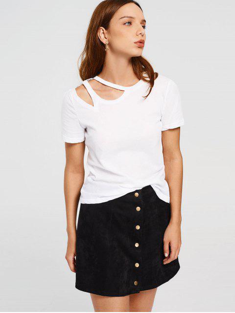 sale Cotton Cut Out Top - WHITE XL Mobile