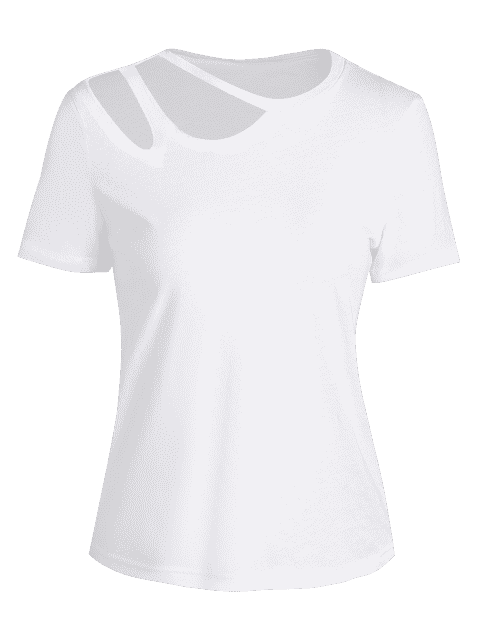sale Cotton Cut Out Top - WHITE XL Mobile