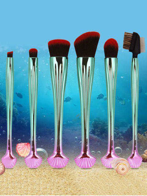 Ensemble de brosses de maquillage Shell Ombre 7Pcs - Rouge et Noir  Mobile