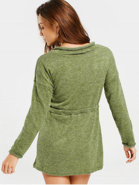 Robe mi-longue à manches longues - Vert Armée L Mobile