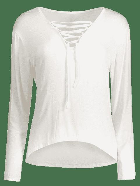 T-shirt à manches longues - Blanc L Mobile